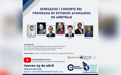 Egresados | Cohorte del programa de estudios avanzados en Arbitraje